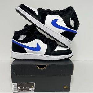 Nike Air Jordan 1 Retro Mid Racer Blue NEW